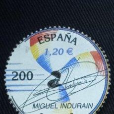 Sellos: SELLOS DE ESPAÑA € MIGUEL INDURAIN. Lote 270174913