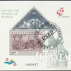 Sellos: 1992 ESPAÑA ED 3195 HB GRANADA EXPOSICIÓN (O) USADO, BUEN ESTADO (EDIFIL). Lote 270747493