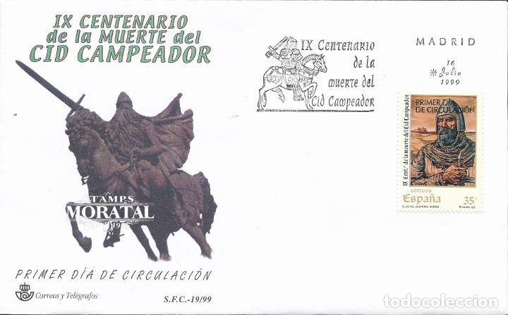1999 ESPAÑA ED 3655 CID CAMPEADOR SERIE GENERAL SPD BUEN ESTADO (FDC) (EDIFIL) (Sellos - España - Juan Carlos I - Desde 1.986 a 1.999 - Cartas)