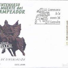 Sellos: 1999 ESPAÑA ED 3655 CID CAMPEADOR SERIE GENERAL SPD BUEN ESTADO (FDC) (EDIFIL). Lote 270747798
