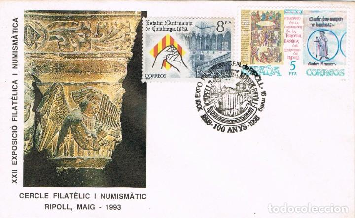 0927. CARTA RIPOLL (GERONA) 1998. CAPILLA SANTA MARIA DE RIPOLL (Sellos - España - Juan Carlos I - Desde 1.986 a 1.999 - Cartas)