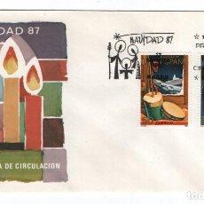 Sellos: CAJA P5/ ESPAÑA 1987, EDIFIL 2925/26, SOBRE 1ER DIA/ SIN CIRCULAR. Lote 272703568