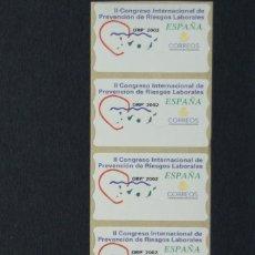 Sellos: ESPAÑA.AÑO 2002./2º CONGRESO INTERNACIONAL PREVENCIÓN RIESGOS LABORALES.TIRA DE 5, NUEVAS Y LIMPIAS.. Lote 272750123