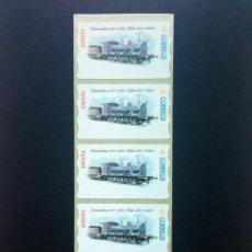 Sellos: ESPAÑA.AÑO 2001./ LOCOMOTORA 030-2103./TIRA DE 5 ETIQUETAS POSTALES NUEVAS Y LIMPIAS (ATMS ).. Lote 272752598