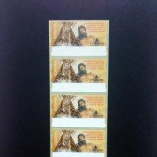 Sellos: ESPAÑA.AÑO 2000. NTRA SRA DE LOS DOLORES. TIRA DE 5 ETIQUETAS POSTALES NUEVAS Y LIMPIAS (ATMS ).. Lote 272755478
