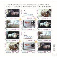 Sellos: ESPAÑA - 1999 - EDIFIL MP 67 (3679/3684A) - MNH** - NUEVO - CABALLOS CARTUJANOS - VALOR CATALOGO 44€. Lote 274438703