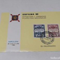 Sellos: ESPAÑA SERIE SELLOS HB EXFILNA FERIA 1980 HB EXPOSICIÓN NUEVO. Lote 275493083