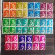 Francobolli: ESPAÑA N°2386/96 MNH** BASICA REY 1977 EN BLOQUES DE 4 (FOTOGRAFÍA ESTÁNDAR). Lote 276067323