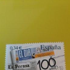 Sellos: EL DIA PRENSA CENTENARIO DIARIO ESPAÑA 2010 EDIFIL 4694 USADO LUJO FILATELIA COLISEVM. Lote 276115238