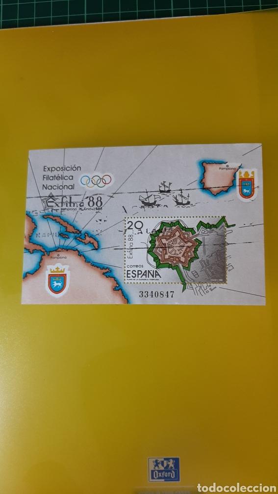 USADA LUJO EDIFIL 2856 ESPAÑA 1988 EXFILMA PAMPLONA BARCOS ARQUITECTURA PLANOS (Sellos - España - Juan Carlos I - Desde 1.986 a 1.999 - Usados)