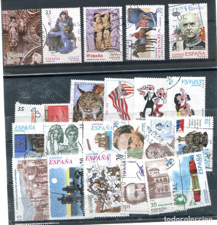 23 SELLOS DIFERENTES ESPAÑOLES DEL AÑO 1998. MATASELLADOS. VER DESCRIPCIÓN (Sellos - España - Juan Carlos I - Desde 1.986 a 1.999 - Usados)