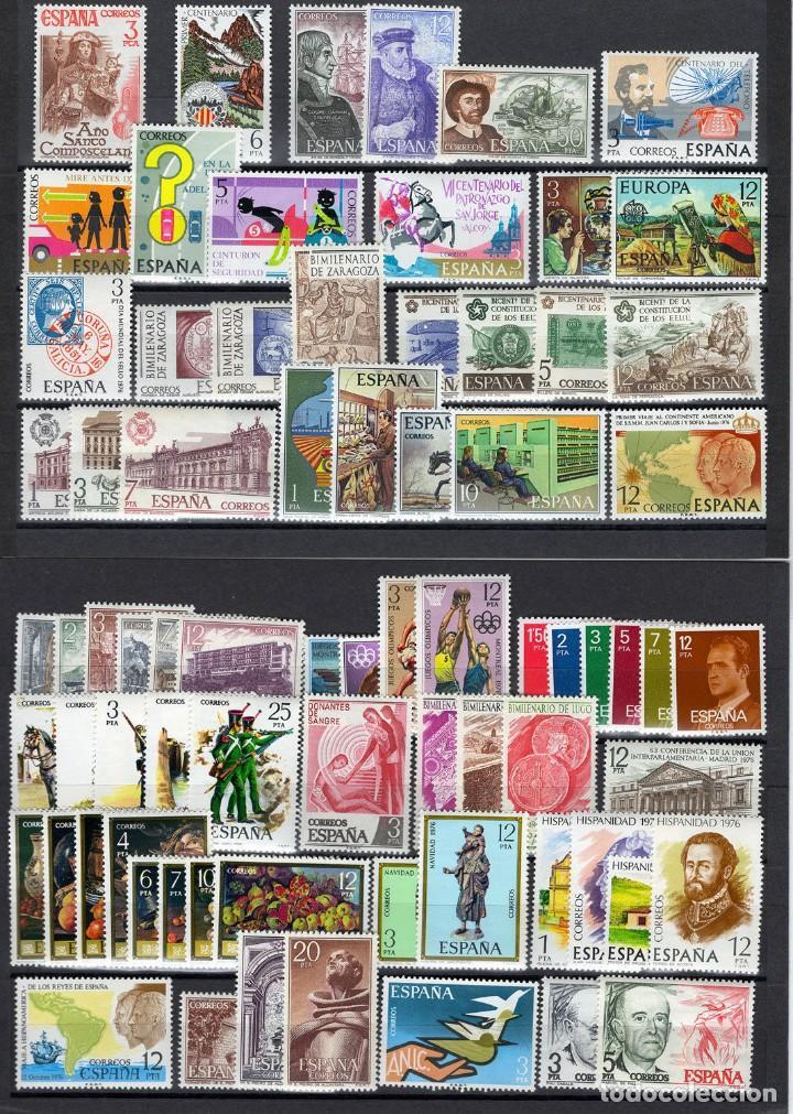 SELLOS ESPAÑA AÑO 1976 OFERTA COMPLETO Y NUEVO MNH GOMA ORIGINAL (Sellos - España - Juan Carlos I - Desde 1.975 a 1.985 - Nuevos)