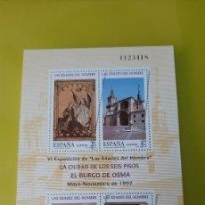 Sellos: USADA HOJA BLOQUE EDIFIL 3494 EDADES HOMBRE BURGO OSMA 1997 ESPAÑA. Lote 276768283
