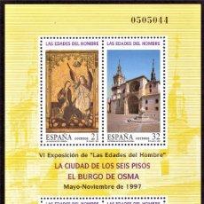 Sellos: HOJITA POSTAL «LAS EDADES DEL HOMBRE» - 1997 - EDIFIL 3494 - NUEVO, ✶✶. Lote 277021338