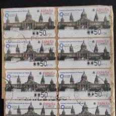 Sellos: 19 ETIQUETAS ATM USADAS. CONSEJO INTERNACIONAL DE MUSEOS ICOMM BARCELONA 2001. Lote 277064803