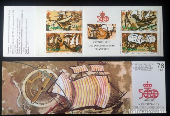 CARNET HOJA SELLOS ESPAÑA 1990 V CENTENARIO DEL DESCUBRIMIENTO DE AMÉRICA (Sellos - España - Juan Carlos I - Desde 1.986 a 1.999 - Nuevos)