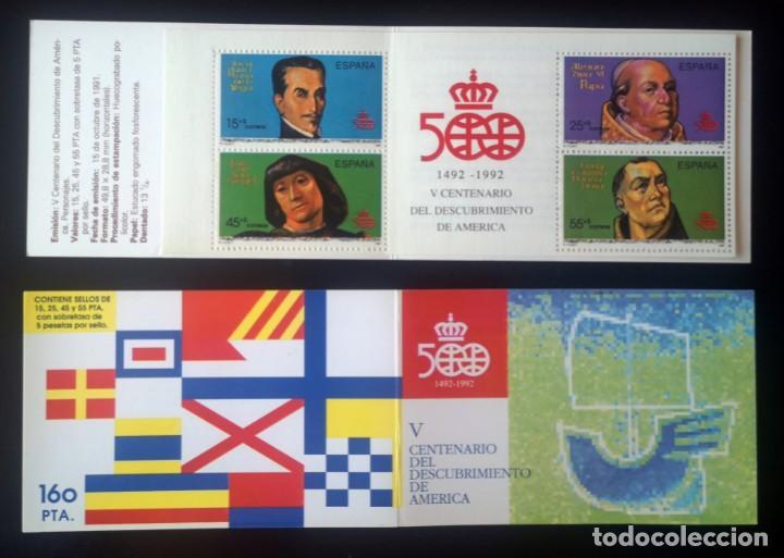 CARNET V CENTENARIO DEL DESCUBRIMIENTO DE AMÉRICA - AÑO 1991 (Sellos - España - Juan Carlos I - Desde 1.986 a 1.999 - Nuevos)