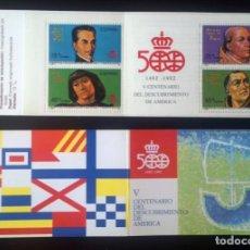 Sellos: CARNET V CENTENARIO DEL DESCUBRIMIENTO DE AMÉRICA - AÑO 1991. Lote 277099253