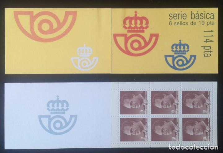 SELLOS ESPAÑA CARNET SERIE BÁSICA 6 SELLOS DE 19 PESETAS 1987 SIN CIRCULAR (Sellos - España - Juan Carlos I - Desde 1.986 a 1.999 - Nuevos)