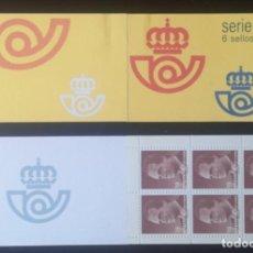 Sellos: SELLOS ESPAÑA CARNET SERIE BÁSICA 6 SELLOS DE 19 PESETAS 1987 SIN CIRCULAR. Lote 277099558
