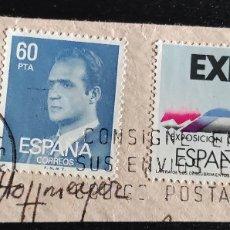 Sellos: 3 SELLOS USADOS. 5 PESETAS JUAN CARLOS I, 1985. EDIFIL 2795. 60, 1981. 2602. EXPO 92. 2875. Lote 277171533