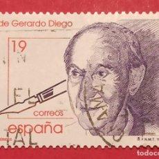Sellos: 3 SELLOS GERARDO DIEGO CENTENARIO NACIMIENTO 1996. Lote 277243118