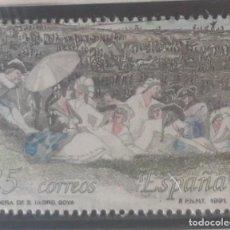 Sellos: ESPAÑA SELLO - AÑO 1991 - EXPOSICIÓN FILATÉLICA NACIONAL EXFILNA 91 - PINTURA - OBRA DE GOYA. Lote 277279253