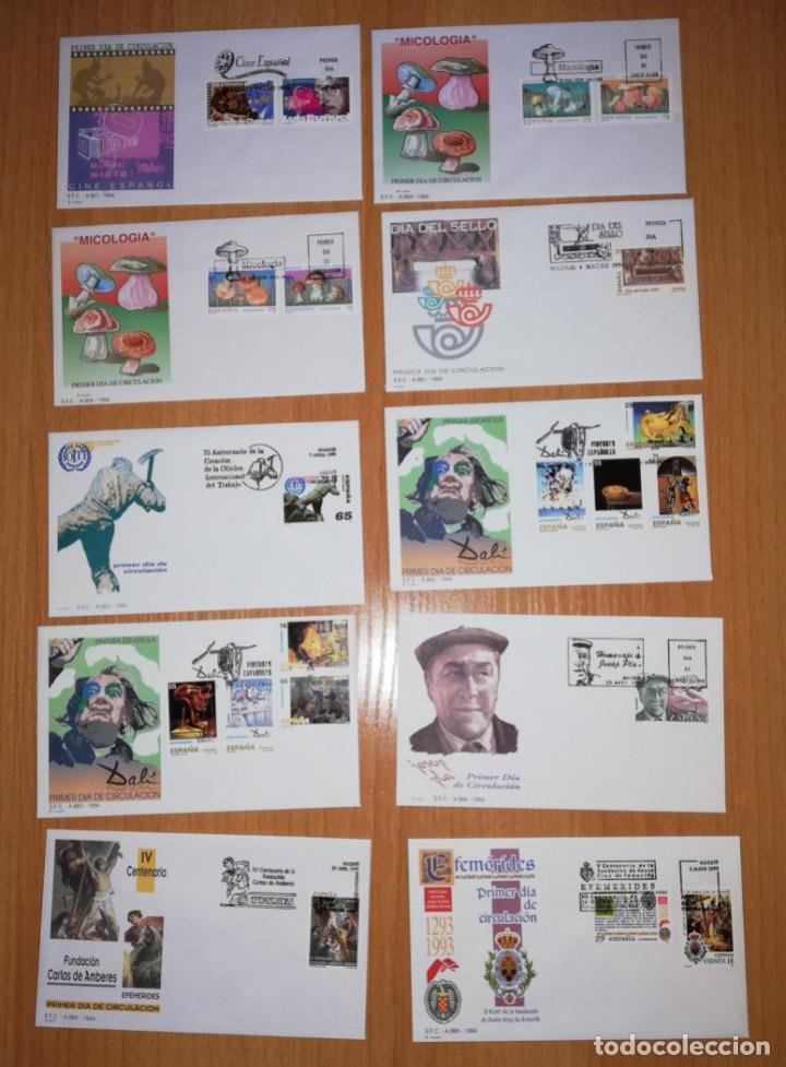 AÑO COMPLETO SOBRES DE PRIMER DÍA AÑO 1994 FDC COMPLETO GRAN OCASION (Sellos - España - Juan Carlos I - Desde 1.986 a 1.999 - Cartas)