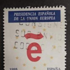 Sellos: ESPAÑA 1995 - PRESIDENCIA ESPAÑOLA DE LA UNION EUROPEA - EDIFIL Nº 3385. Lote 277541613