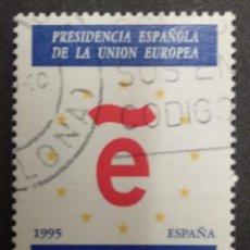 Sellos: ESPAÑA 1995 - PRESIDENCIA ESPAÑOLA DE LA UNION EUROPEA - EDIFIL Nº 3385. Lote 277541713