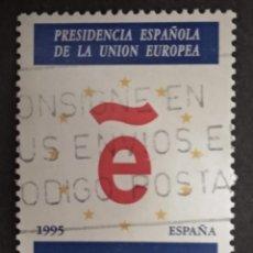 Sellos: ESPAÑA 1995 - PRESIDENCIA ESPAÑOLA DE LA UNION EUROPEA - EDIFIL Nº 3385. Lote 277541788