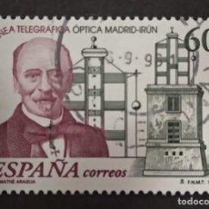 Sellos: SELLO ESPAÑA USADO. 1996. EDIFIL 3410. DIA DEL SELLO. 150 ANIVº LINEA TELEGRAFICA MADRID-IRÚN.. Lote 277542013