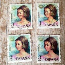 Sellos: ESPAÑA 1975 - DOÑA SOFIA 4 SELLOS USADOS. Lote 277576713