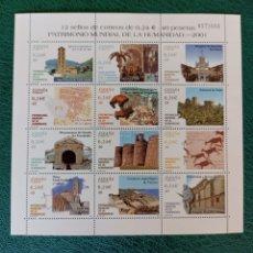 Sellos: ESPAÑA, MINIPLIEGO N°77 MNH**PATRIMONIO MUNDIAL DE LA HUMANIDAD 2001 (FOTOGRAFÍA ESTÁNDAR). Lote 277725558
