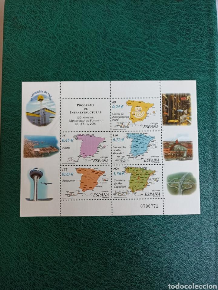 ESPAÑA N°3855 MNH**MINISTERIO DE FOMENTO 2001 (FOTOGRAFÍA ESTÁNDAR) (Sellos - España - Juan Carlos I - Desde 2.000 - Nuevos)