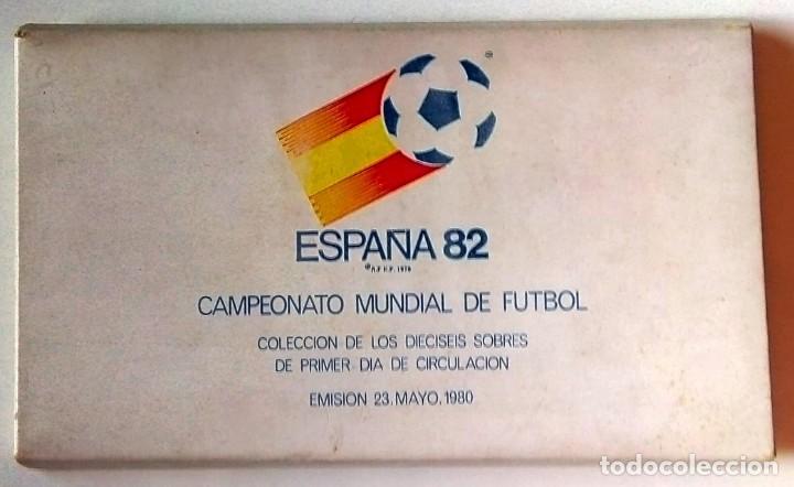 ESPAÑA 1982 - COLECCIÓN DE SPD DEL MUNDIAL DE FÚTBOL DE ESPAÑA (Sellos - España - Juan Carlos I - Desde 1.975 a 1.985 - Cartas)