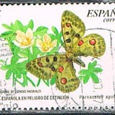 Sellos: EDIFIL 3694, MARIPOSAS APOLO, USADO. Lote 277821428