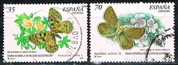 EDIFIL 3694/5, MARIPOSA APOLO (PARNASSIUS APOLLO), USADO, SERIE COMPLETA (Sellos - España - Juan Carlos I - Desde 1.986 a 1.999 - Usados)