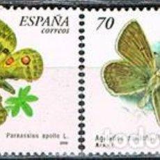 Sellos: EDIFIL 3694/5, MARIPOSA APOLO (PARNASSIUS APOLLO), NUEVO ***, SERIE COMPLETA. Lote 277821913