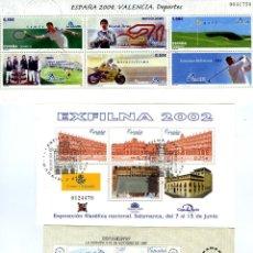 Sellos: TRES HOJITAS BLOQUE AÑOS 1987-2000 Y 2004-CON MATASELLOS Y SIN GOMA-ENVIO GRATIS .. Lote 278366488