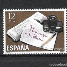 Sellos: ESPAÑA 1981 EDIFIL 2610 ** MNH - 2/55. Lote 278595708