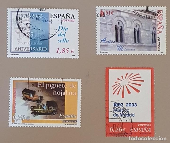SELLOS USADOS EDIFIL 3980-3983 (Sellos - España - Juan Carlos I - Desde 2.000 - Usados)