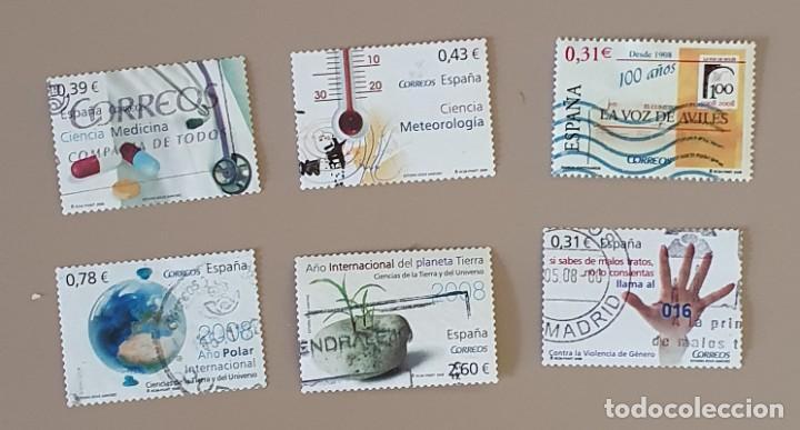 SELLOS USADOS EDIFIL 4384-4389 (Sellos - España - Juan Carlos I - Desde 2.000 - Usados)