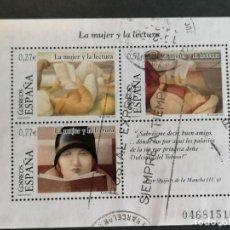 Sellos: ESPAÑA SELLOS EUROS MUJER LECTURA 2004 EDIFIL 4060 SELLOS EUROS USADO. Lote 295534183