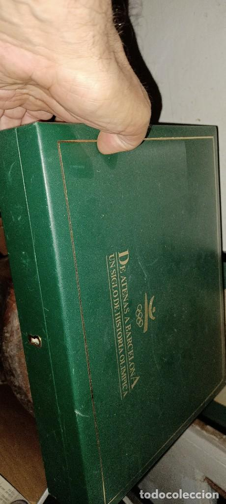 Sellos: estuche VACIO atenas a BARCELONA UN SIGLO HISTORIA OLIMPICA PARA SELLOS DE PLATA BAÑO EN ORO - Foto 3 - 278595338