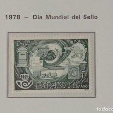 Sellos: SELLOS NUEVOS ESPAÑA - 1978 - DIA MUNDIAL DEL SELLO -1 SELLO. Lote 282493398