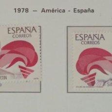 Sellos: SELLOS NUEVOS ESPAÑA - 1978 - AMERICA - ESPAÑA - 2 SELLOS. Lote 282494003