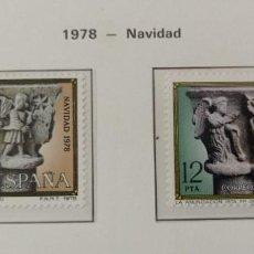 Sellos: SELLOS NUEVOS ESPAÑA - 1978 - NAVIDAD - 2 SELLOS. Lote 282495813