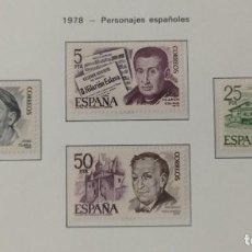 Sellos: SELLOS NUEVOS ESPAÑA - 1978 - PERSONAJES ESPAÑOLES - 4 SELLOS. Lote 282496903