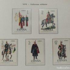 Sellos: SELLOS NUEVOS ESPAÑA - 1978 - UNIFORMES MILITARES - 5 SELLOS. Lote 282497123